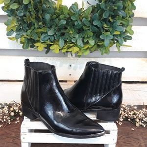 Marc Fisher black booties size 6 & 1/2